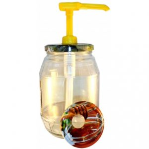 Dosificador de miel 3 tapas. Modelo Panal